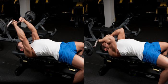 Ez-Bar-Triceps-Extension