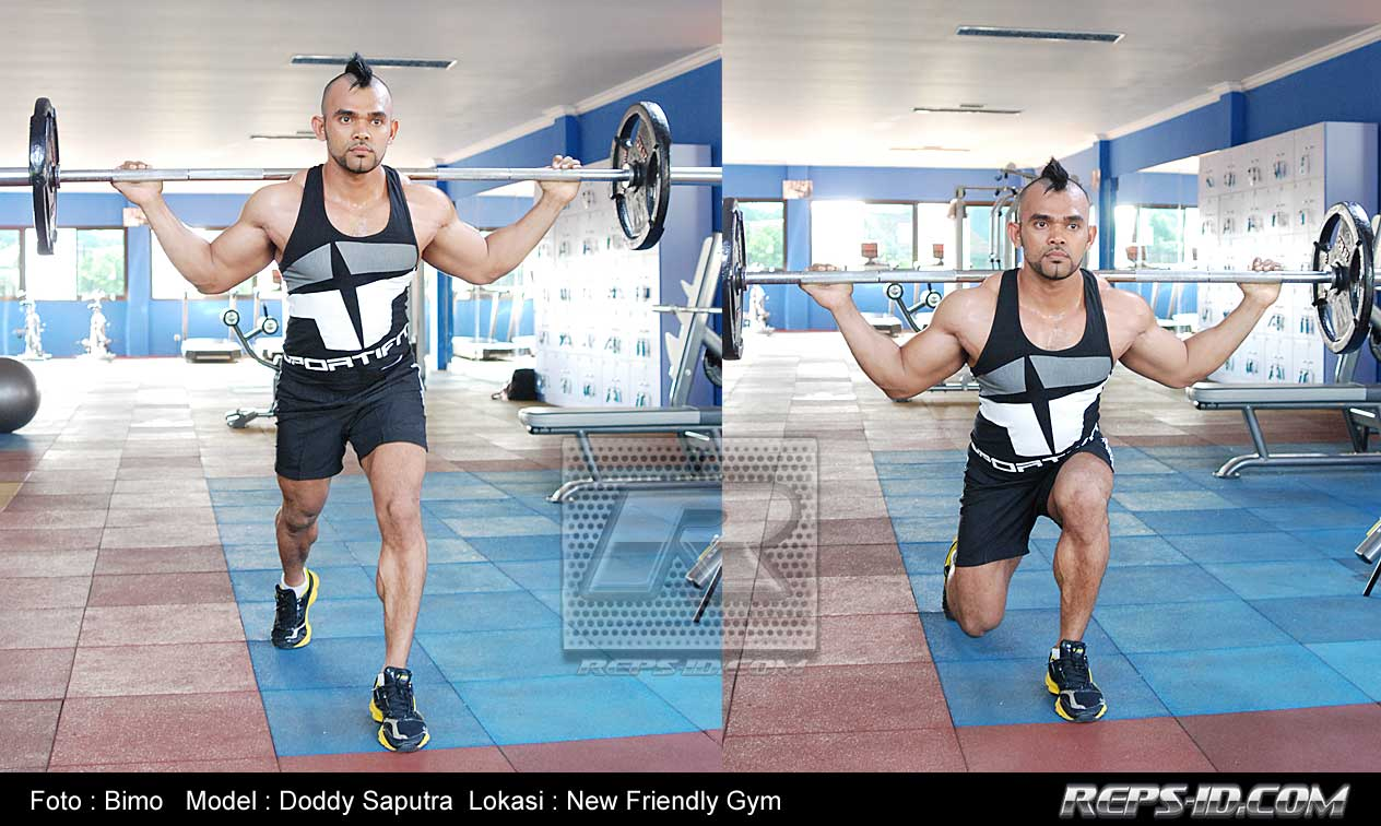 barbell-lunges