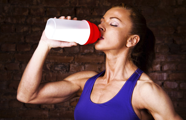 Woman-Drinking-Protein-620x400