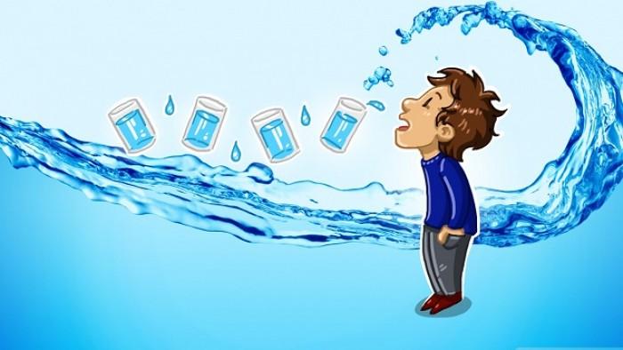 terlalu banyak minum air