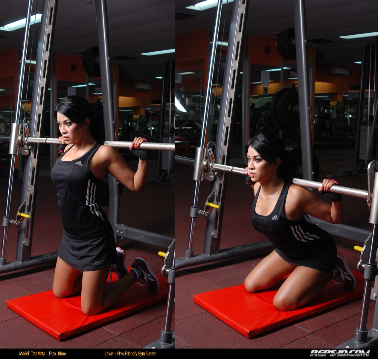 kneeling squats on smith machine