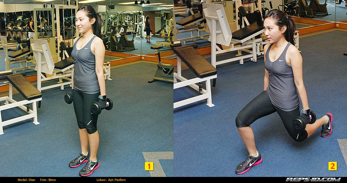 DUMBELL-LUNGES