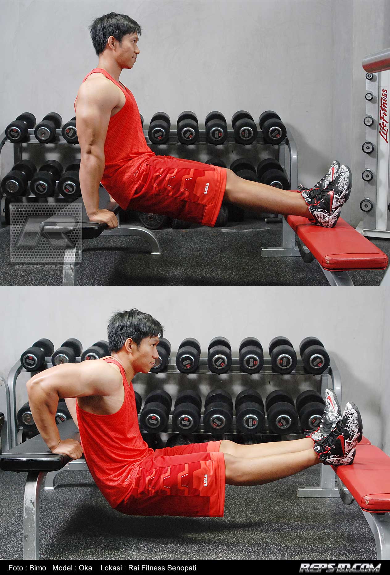 tricep-dipping