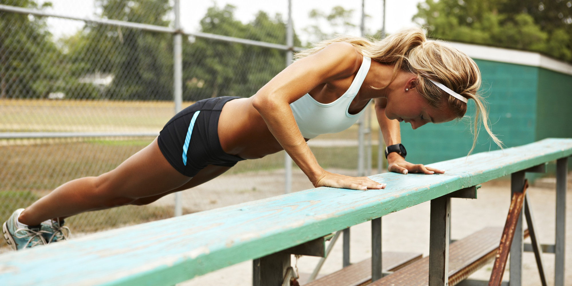 Female runner exercising